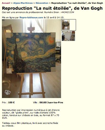 comment brader ses tableaux sans d valoriser son offre. Black Bedroom Furniture Sets. Home Design Ideas